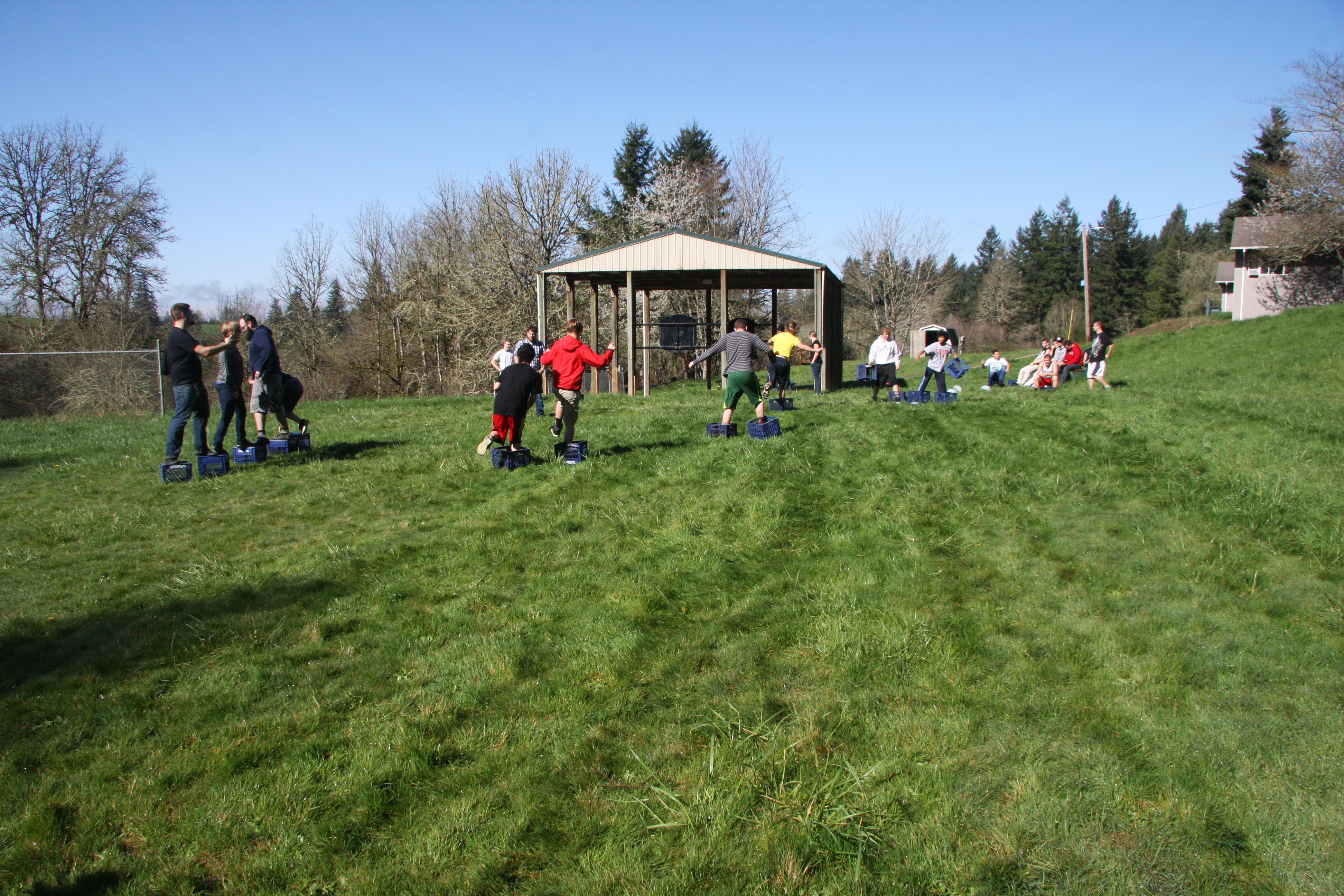 Field day at Parrott Creek.